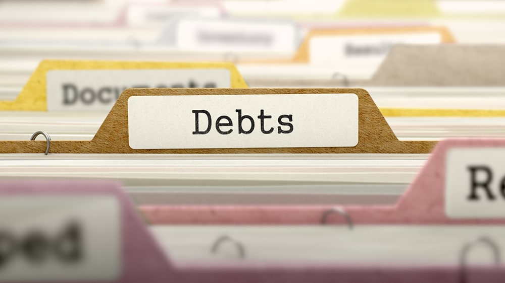 Debts bankruptcy